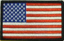 AMERICAN USA Flag Iron-On Tactical Morale Patch  Black Border #03