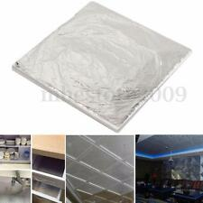 100Pcs Sheets Silver 14x14cm Leaf Foil Wrapping Paper For Gilding Art Craft Work