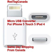 Micro USB Converter Charger Adapter For iPhone 5 Touch 5 iPad 4- CA