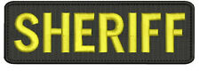 Sheriff embroidery Patch 2x5 hook the letters are gold