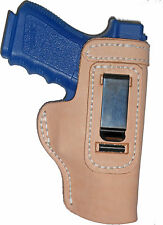 Glock 29, 30, 30SF Leather Gun Holster LT RH IWB Natural