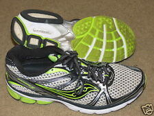 GREAT Saucony Guide 5 black, gray and flourescent green tennis shoes - womens 9