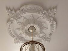 Ceiling Rose Plaster Plain White Traditional Victorian 720mm Handmade CR7 New