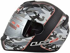 LS2 Helmets - FF352-Camo Matt Black Red- Full Face Imported Motorcycle Helmet XL