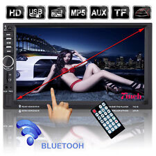 "Double 2din 7"" HD In dash Car stereo DVD CD Player Touch Screen Bluetooth USB"