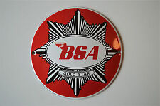 Heavy quality porcelain advertising sign BSA Goldstar garage plaque round