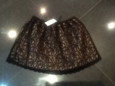 NWT Brigitte Bardot New & Genuine Ladies Black Lace Skirt Size Small (8/10 UK)