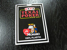 Modiano Italian 100% Plastic Playing Cards - Texas Poker - Blue Swirl Design