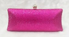 Hot Pink ~Gorgeous Bridal / Prom / Evening Crystal Clutch Bag☆Free shipping ☆