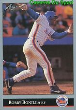 308   BOBBY BONILLA    NEW YORK METS BASEBALL CARD LEAF 1992