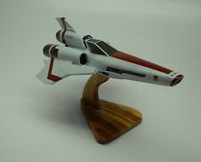 Viper Mark-2 Battlestar Galactica Spacecraft Mahogany Kiln Dry Wood Model Large