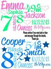 IRON ON TRANSFER MATERNITY PREGNANT baby BIRTH NOTICE details personalised 16x10