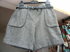 grey mix belted city shorts by F&F size 8 BNWT