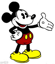 """4.5"""" DISNEY CLASSIC MICKEY MOUSE CHARACTER PREPASTED WALLPAPER BORDER CUT OUTS"""