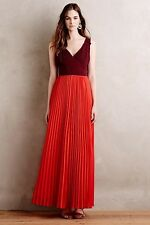 NWT SZ 16 ANTHROPOLOGIE ROJA MAXI DRESS MOULINETTE SOEURS FAB GOWN Or DAY DRESS