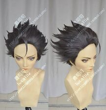 Ace Attorney Gyakuten Saiban Phoenix Wright Black Anime Cosplay Wig +Track No