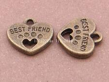 10pc Antique Bronze heart Pendant Charms Accessories Bead wholesale PL322
