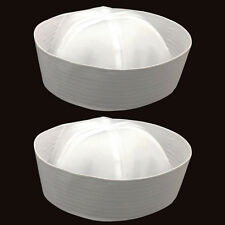 WHITE MEN&WOMAN SAILOR HAT COSTUME PARTY NAVY MARINE CAP FISHING POPEYE DOUGHBOY