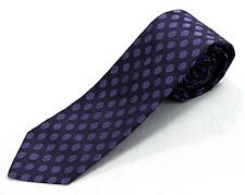 $295 Kiton 100% Silk Purple Oval Large Polka Dot Pattern 7 Seven Fold Tie 3 1/8""