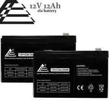Set of 2 - 12V 12AH Sealed Lead Acid Battery replaces 6FM12, SW12120, WP12-12