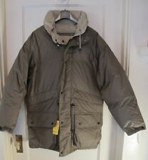 I. Spiewak Down Feather Winter Coat Parka EXCALIBUR 9 Pockets HOOD Tan Sz Small