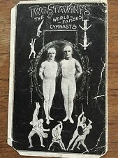 c1910 Postcard The TWO STAVANYS World Famous Gymnasts Gymnastics VERY RARE CARD