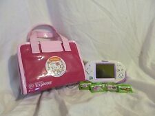 Purple Leapster Explorer with Case and 4 Games