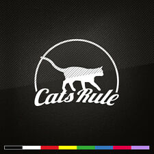 Cat Stickers CATS RULE Vinyl Decals car graphics window wall