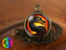 Mortal Kombat X Dragon Game Gamer Gaming Fashion Necklace Pendant Jewelry Gift