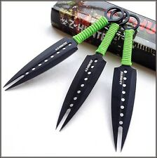 7 INCH OVERALL Z-HUNTER THROWING KNIVES W/ NYLON SHEATH - 3 PCS SET