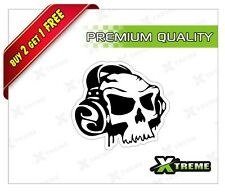 XTREME-in SKULL REFLECTIVE STICKER FOR CAR, BIKE, DOOR,GLOSS (3 inch)