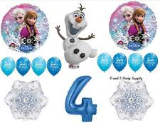 OLAF FROZEN BLUE 4th BIRTHDAY PARTY BALLOONS Decorations Supplies Disney Snow
