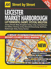 AA Street by Street Leicester, Market Harborough: Midi local,ACCEPTABLE Book
