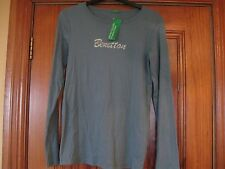 United Colours of Benetton Maternity Top Sparkling Logo Size Small New with Tags