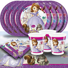Disney's Sofia The First Princess Childrens Birthday Party Tableware Pack For 16