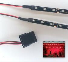 Red modding pc case light led kit (double 30CM bandes) molex 40CM queues