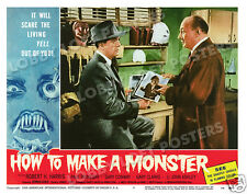 HOW TO MAKE A MONSTER LOBBY SCENE CARD # 3 POSTER 1958 ROBERT H. HARRIS AIP