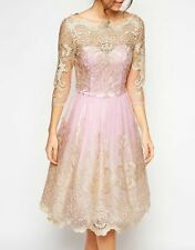 CHI CHI LONDON PINK LACE DRESS SIZE UK16/EUR44/US12