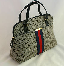 NWT Tommy Hilfiger Women's Satchel Bag Shoulder Handbag / Black Multi $89