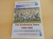COLCHESTER UNITED THE CONFERENCE YEARS DOUBLE DVD 1990-1992 + LAYER ROAD CD-ROM