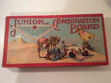 Vintage antique Milton Bradley 1905 Junior Combination Board Games