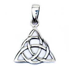 "Solid Celtic Design .925 Sterling Silver Pendant 3/4"" long"