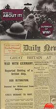 Outbreak of WW1  - World War One replica Newspaper