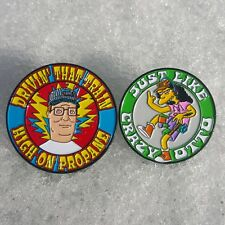 2-Pack Hank Hill/Otto Grateful Dead pin set- Dead Company Co Simpsons King of