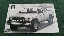 1987 1988 SILVER KNIGHT NISSAN D21 PICKUP BODYSTYLING - UK POST CARD - BROCHURE