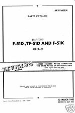 P-51 P-51 MUSTANG 1940s historic archive parts service manual RARE PERIOD DETAIL