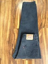AUTHENTIC Levi's 550 RELAXED FIT Black Faded Jeans Tag 34x30 Measures 33x29