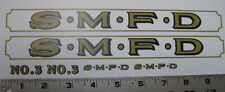 Smith Miller L Mack fire truck water slide decal set