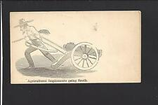 "MINT CIVIL WAR PATRIOTIC COVER, ""AGRICULTURAL IMPLEMENTS GOING SOUTH""."
