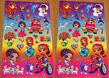 LISA FRANK Stickers! Girls Love to Shop Car Puppy Cats Balloons 2 Sheets!